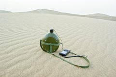 Desert and navigators Stock Image