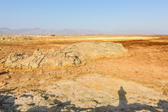 Desert near Dallol in Danakil Depression in Ethiopia Stock Images