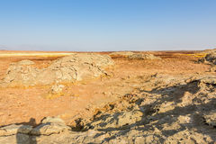Desert near Dallol in Danakil Depression in Ethiopia Stock Photo