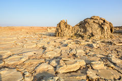Desert near Dallol in Ethiopia Royalty Free Stock Image