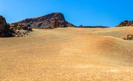 Desert near Teide. The desert located near the Teide volcano in Tenerife Stock Image