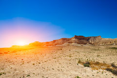 Desert of the Negev Stock Image