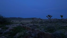 The desert of Nevada by night. Travel photography stock footage
