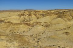 Desert New Mexico. Geological yellow formations in the colorful landscape in the US state New Mexico stock photography