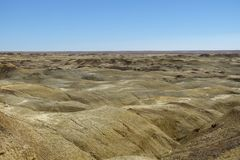 Desert New Mexico. Geological yellow formations in the colorful landscape in the US state New Mexico stock photos