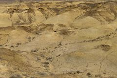 Desert New Mexico. Geological yellow formations in the colorful landscape in the US state New Mexico stock image