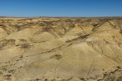 Desert New Mexico. Geological yellow formations in the colorful landscape in the US state New Mexico stock photo