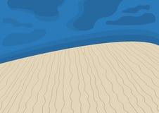 Desert at night Royalty Free Stock Image