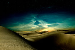 Desert. Night in sand africa desert Stock Image