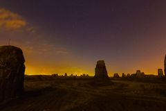 Desert night and the starry sky Stock Photo