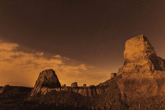 Desert night and the starry sky Royalty Free Stock Images