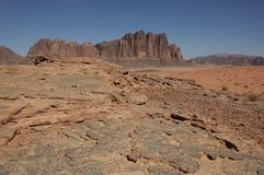 Desert on the night - Wadi Rum Royalty Free Stock Photo