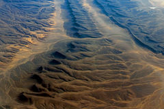 The desert in north africa seen from plane Royalty Free Stock Photo