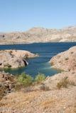 Desert oasis. Beautiful desert lake, Lake Mohave Stock Images