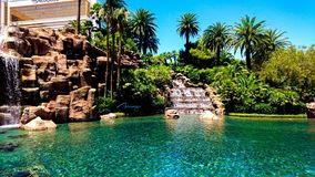 Desert Oasis at the Mirage royalty free stock photos