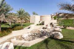 Desert oasis resort in the Emirate of Abu Dhabi Stock Photos