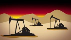 Desert oil field 1 stock footage