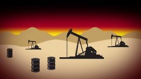 Desert oil field 2 Stock Photography