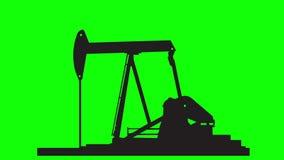 Desert oil pumpjack 1 stock video