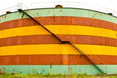 Desert oil tank Royalty Free Stock Image