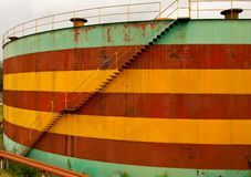 Desert oil tank Royalty Free Stock Photography