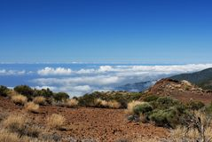Desert over the clouds Royalty Free Stock Photo