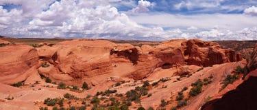 Desert panorama. Arches National Park, Utah, USA Royalty Free Stock Photos