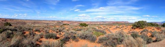 Desert Panorama. A panorama which shows Utah's deserts Stock Photography