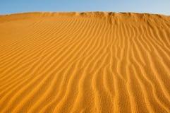 Desert panorama. Sand dunes in the desert near Dubai Royalty Free Stock Photo