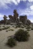 Desert panorama sand and rock formation Stock Image