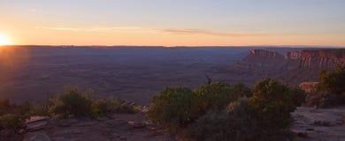 Desert Panorama. Desert sunset panorama at sunset in Utah Stock Image