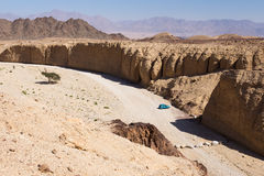 Desert parking. Royalty Free Stock Photography