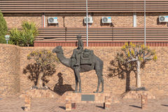 Desert Patrol Statue in Upington. UPINGTON, SOUTH AFRICA - JUNE 11, 2017: The Desert Patrol Statue in Upington commemorates the South African Mounted Police and royalty free stock photo