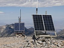 Desert Peak Solar Weather Station Royalty Free Stock Photos