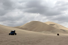 Desert in peru. The big dunes at the ica desert Stock Photos