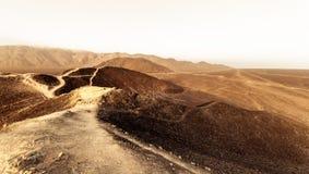 Desert Peruvian Road Stock Images