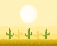 Desert pixel art Stock Photo
