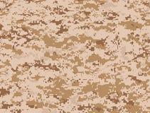 Desert pixels camouflage. Vector texture of camel pixels camouflage for the desert Royalty Free Stock Photo