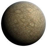 Desert planet. The desert planet, 3D rendering, isolated, fantasy Stock Image