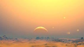 The desert planet of aliens stock footage