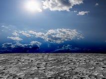 Desert Planet Landscape Horror 3D illustration Stock Image