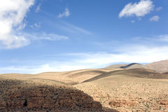 Desert plateau in morocco Royalty Free Stock Images