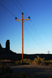 Desert poles Royalty Free Stock Photography