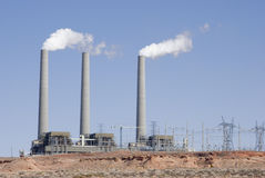 Desert Power Plant Stock Images