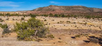 Desert Public Land near Blanding, Utah. Public land provides numerous hiking opportunities in Utah. This area is near the town of Blanding stock photography