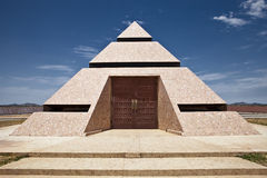 Desert Pyramid. Modern pyramid temple located in the desert south west stock photography