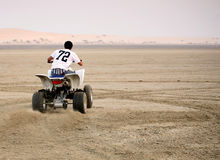 Desert quad riding stock photos