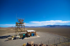 Desert Radar Station Royalty Free Stock Photo