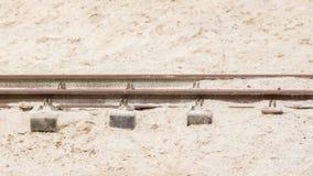 Desert railroad track Stock Image