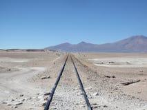 Desert railroad tracks Stock Photos